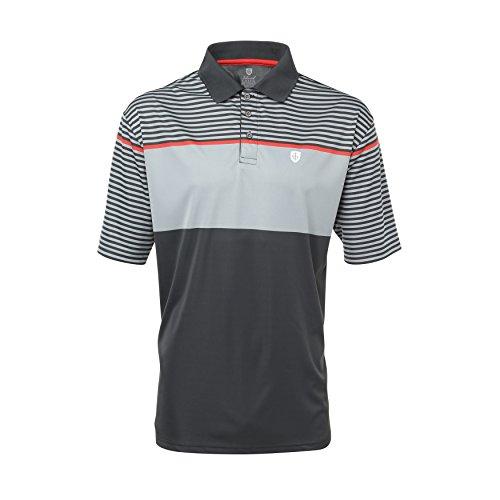Island Green Poloshirt van hoge kwaliteit, maat 54, golf of vrije tijd; ademend functioneel materiaal met een sportieve uitstraling; verschillende modellen en kleuren - 1461 Charcoal