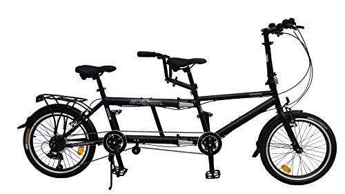 ECOSMO 50,8 cm nueva ciudad bicicleta plegable Tandem 7SP - 20TF01BL