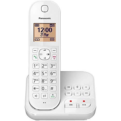 Panasonic KX-TGC 422 GW, schnurloses Telefon mit Anrufbeantworter, Weiß