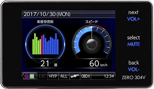 コムテック レーダー探知機 ZERO 304V 無料データ更新 移動式小型オービスダブル対応/ゾーン30対応 OBD2接...