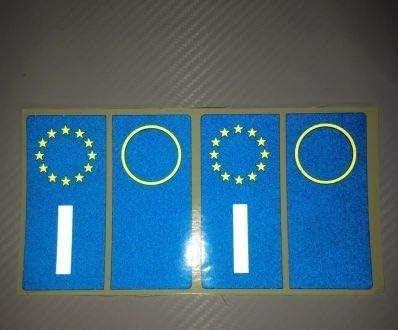 481 opinioni per StickersLab- Adesivi per Targa Italiana Kit da 4 Pezzi RIFRANGENTI Ultra