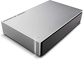 LaCie 莱斯 6 TB Porsche Design USB 3.0桌面3.5英寸外置硬盘 适合PC和Mac - 银色