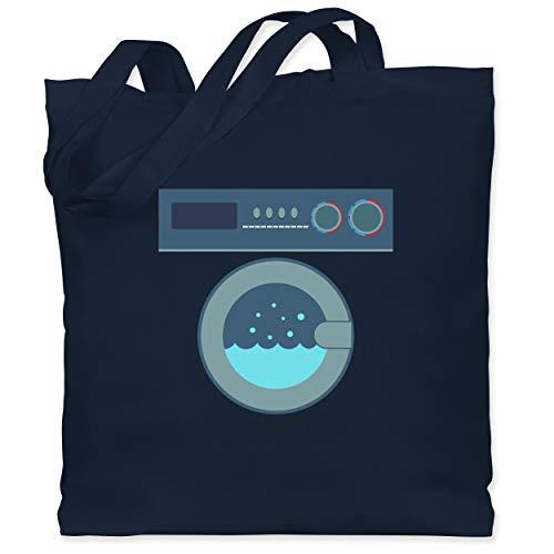 Shirtracer Karneval & Fasching - Waschmaschine Kostüm - Unisize - Navy Blau - Waschmaschine - WM101 - Stoffbeutel aus Baumwolle Jutebeutel lange Henkel