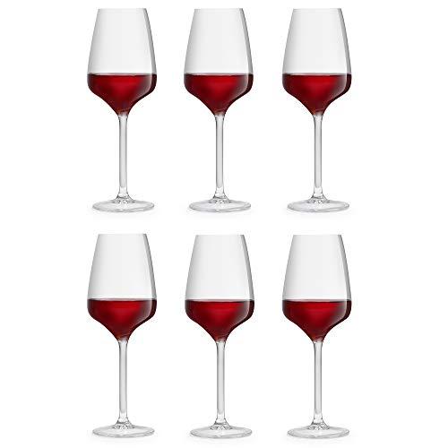 Copa de vino Servan, marca Libbey – 33 cl/330 ml - 6 unidades – diseño único – resistente a lavado en lavavajillas