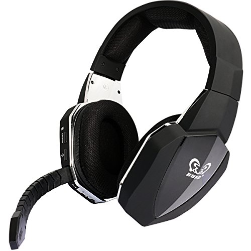 Wireless Optical USB Gaming Headset for PS4 PS3 Xbox 360 PC Computer Wired Headphones for Xbox one Over Ear Comfortable (Black)