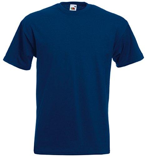 Fruit of the Loom T-Shirt, hochwertig Gr. Large, navy