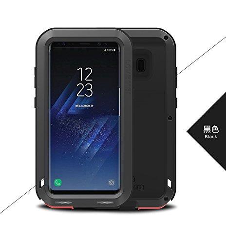 LOVE MEI Samsung Galaxy S8 Plus Funda, Armor Funda rígida, Metal de Aluminio a Prueba de Golpes Snowproof Cubierta Carcasa Hermética al Polvo para el Samsung Galaxy S8 Plus (6,2 Pulgadas)(Negro)