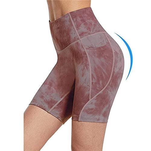 Jogging Leggings For Women,Pantalones deportivos de tres cuartos con bolsillo, cintura alta, pantalones deportivos para correr, pantalones cortos de yoga con estampado transfronterizo de Europa y Amé