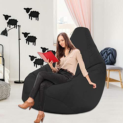 TARTIERY - Puf para adultos y tumbona grande, lavable, funda de sofá rellena, relleno de espuma y accesorios