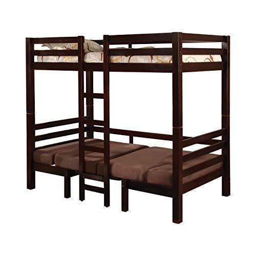 Big Sale Coaster Twin Size Convertible Loft Bed in Dark Wood Finish