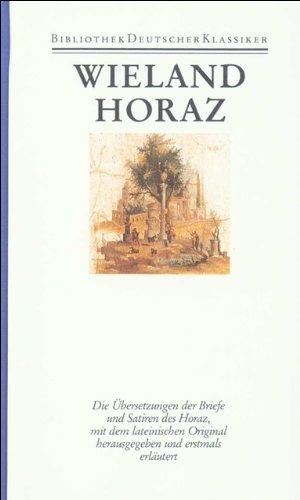 Werke, 12 Bde., Ln, Bd.9, Übersetzung des Horaz