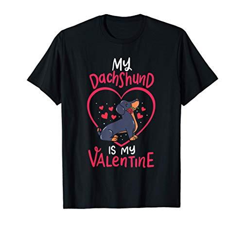 Mi perro salchicha es mi regalo de San Valentín. Mamá, lindo Camiseta