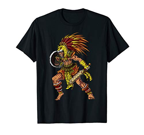 Aztec Jaguar Warrior Native Mexican Civilization Mythology T-Shirt