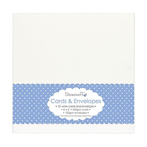 Trimcraft Colombe Craft Cartes avec enveloppes Blanc 15 x 15 cm Acrylique Multicolore 3 pièces