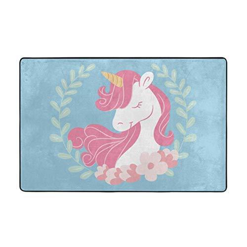 Alfombras de área, alfombras de Piso Antideslizantes Unicorm, Alfombrilla de decoración para el hogar, 60 'x 39' para Sala de Estar, Sala de Juegos