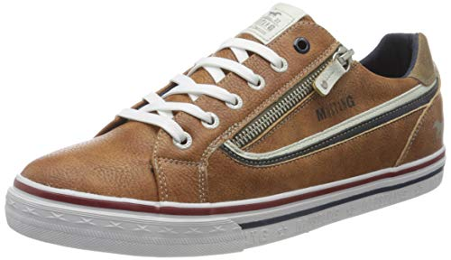 MUSTANG Herren 4147-301 Sneaker, Braun (Cognac 307), 43 EU