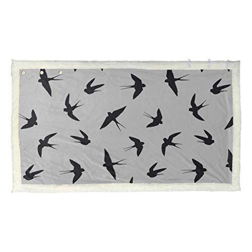 Uccello nero Tranquillo Misteriose ragazze Avvolgono scialle Coperta riscaldabile indossabile 53x30 pollici con 3 bottoni per divano All'aperto Avvolge e scialli da donna Scialle e involucri