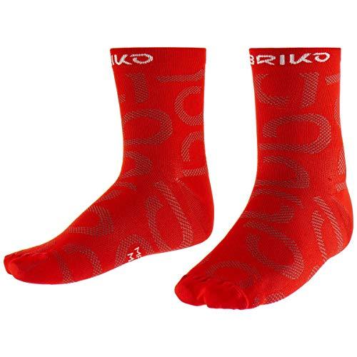 Briko Meryl Short Socks 9CM Chaussettes Homme, 906 Red-Brown Fango, ML