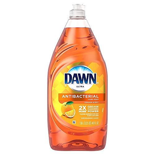 Dawn Ultra Antibacterial Hand Soap Dishwashing Liquid Dish Soap, Orange Scent, 40 Oz