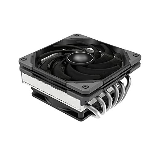 ZRJ Ventilador CPU CPU Cooler 6 Tubos de disipador de Calor Diseño Delgado Diseño de Doble Capa Hoja de Hucha Diseño de níquel Solución de zócalo Universal Ventilador