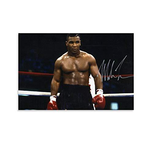 DRAGON VINES Mike Tyson Action Große schwere Boxershorts Moderne zeitgenössische Malerei Korridor Treppen 30 x 45 cm