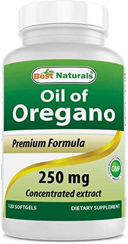 Best Naturals Oregano Oil 250 Mg Softgels, 120Count