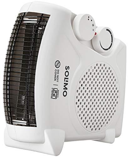 Amazon Brand - Solimo 2000-Watt Room Heater (ISI certified, White colour, Ideal for small to medium room/area)