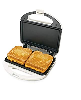 Uniware High Quality Sandwich Maker with Case, ETL Certified, Non-Stick Coating Plate, Cool Touch Housing, with Thermostat, Makes Sandwich, Omelettes, Grilled Cheese and more (Style 1)