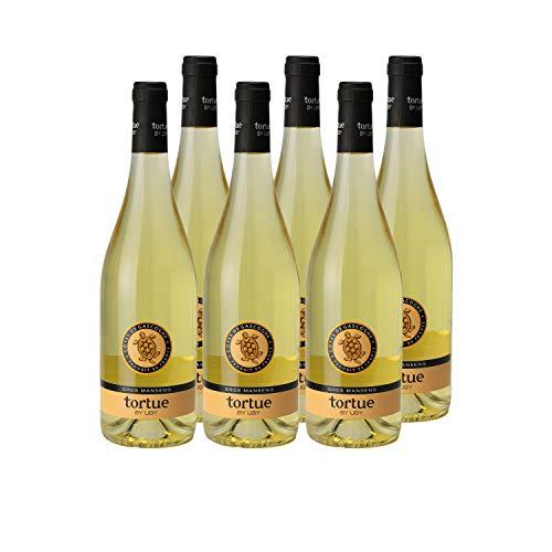 Les Tortues Gros Manseng Côtes de Gascogne Blanc 2018 - Domaine d'Uby - Vin IGP Blanc du Sud-Ouest - Cépage Gros Manseng - Lot de 6x75cl