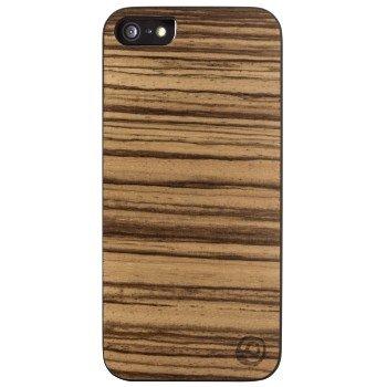 Hama Handy-Cover 'Real Wood' per Apple iPhone 5/5s, Zebrano/nero