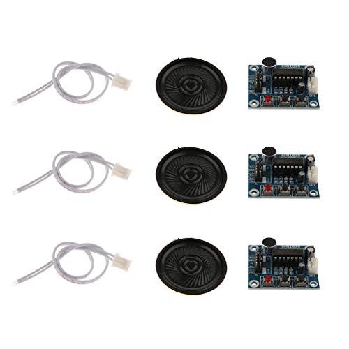 Milageto Lautsprecher + ISD1820 Sound Voice Recording Wiedergabemodul Voice Sound Board