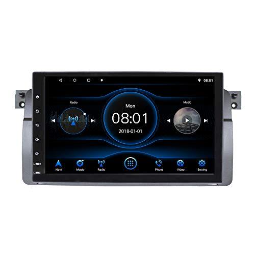 KKXXX 9 '' Android Autoradio für BMW 3er Serie 1997-2006 E46 Multimedia Player mit BT SWC Spiegelverbindung CANBUS DVR & Kameraeingang Quad Core 1 GB RAM 16 GB ROM
