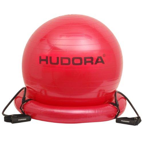 HUDORA Gymnastikball mit Base und Expander, rot