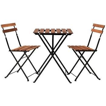 ZWEI BALKONTISCHE MIT zwei Stühlen, ikea in weiss EUR 50