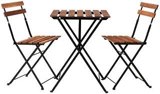 IKEA TARNO テーブル&チェア2脚, アカシア材, スチール