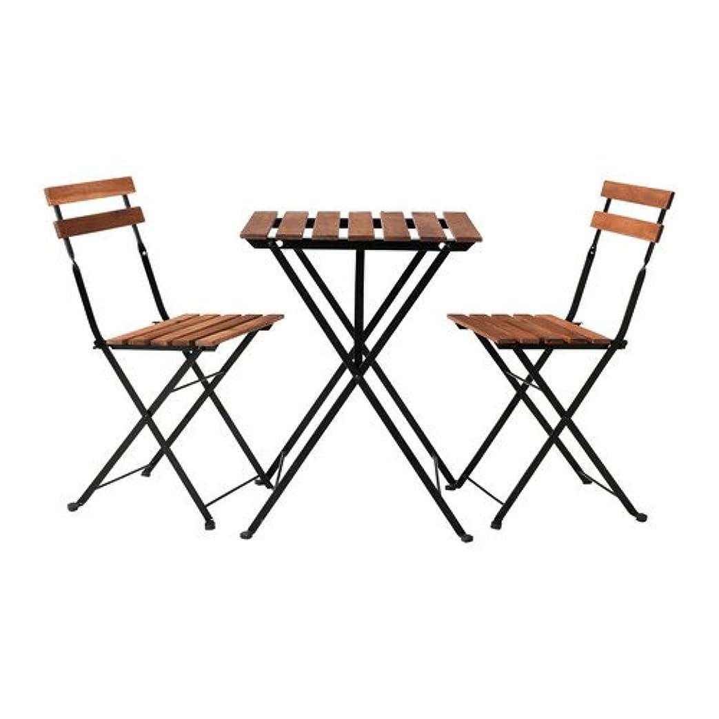 支給コテージ厚くするIKEA TARNO テーブル&チェア2脚, アカシア材, スチール