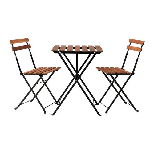 Ikea - Tärnö garden table with 2 chairs Acacia Color Dark Brown