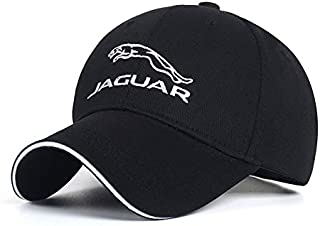 Wall Stickz Car Sales Logo Embroidered Adjustable Baseball Caps for Men and Women Hat Travel Cap Racing Motor Hat (Jaguar)