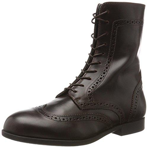BIRKENSTOCK Damen Laramie Naturleder Combat Boots, Braun (Mahagoni), 40 EU