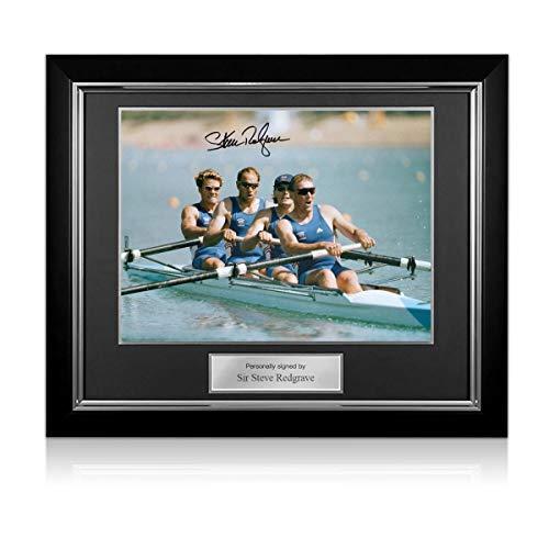 exclusivememorabilia.com Foto firmada por Steve Redgrave: Equipo Ganador. Marco de Lujo