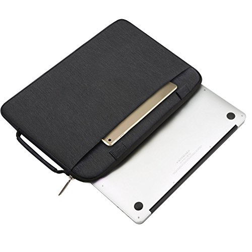 MOSISO Laptop Schultertasche Kompatibel mit 2019 MacBook Pro 16 Zoll Touch Bar A2141, 15-15,4 Zoll MacBook Pro Retina 2012-2015, Polyester Flapover Bote Aktentasche Laptoptasche, Schwarz - 5