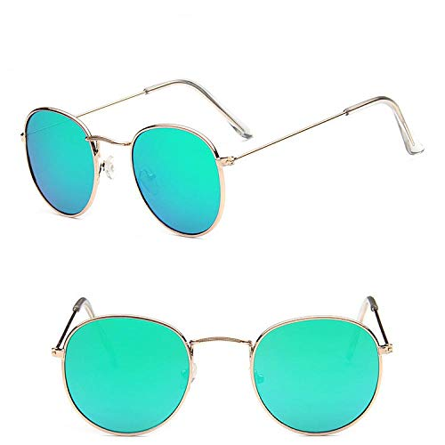 Modische Sonnenbrille Gradient Ocean Lens Sonnenbrille Frauen Ovale Brille Männer Street Beat Einkaufsspiegel Vintage Goldgreen