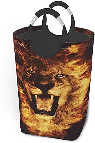 IUBBKI Leone di fuoco cesto della biancheria pieghevole in tessuto cesto della biancheria di grande capacità portatile vestiti sporchi sacchetti di immagazzinaggio giocattolo domestico organizzatore p