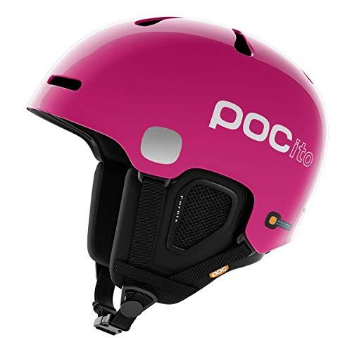 POC Pocito Fornix, Casco da Sci Alpino Unisex-Bambini, Rosa Fluorescente, XS/S
