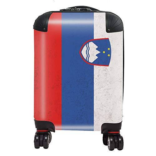 Vlag Slovenië, Zuid-Europa kinderen koffer cabine met TSA Lock 4 draaibare wielen bagage tas 46 cm 29 liter