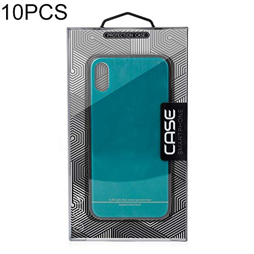 NOLOGO 10 PCS Hochschule Caliber Mobiltelefon-Kasten PVC-Paket-Kasten for iPhone (5,5/6,1/6,5 inch) Silikon-Anti-Scratch (Color : Color1)