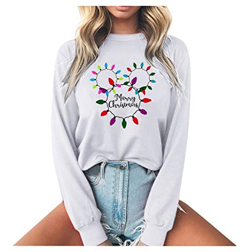 ZCMWY Vrouwen Hoodies Pullover Tops Casual Ronde hals Gedrukt Blouse Wit Oversized Hoodies Sweatshirts Leuke Pullover