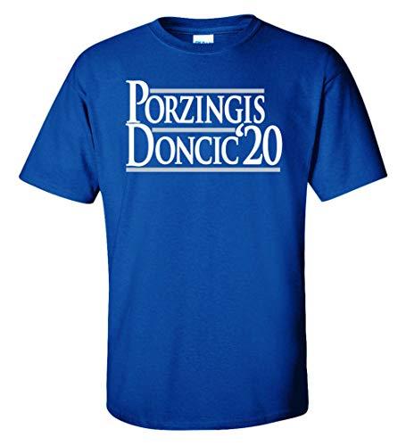 PROSPECT SHIRTS Blue Dallas Porzingis Doncic 2020' T-Shirt Adult