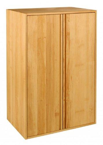 BioKinder 22286 Laura Schrankelement Kinder-Kleiderschrank 2-türig aus Massivholz Erle 120 x 80 x 55 cm