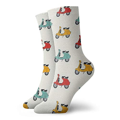 Retro Vespa Casual Crew Socken Lustige Neuheit Knöchel Socken Winter Socken für Männer und Frauen – Einheitsgröße passt den meisten